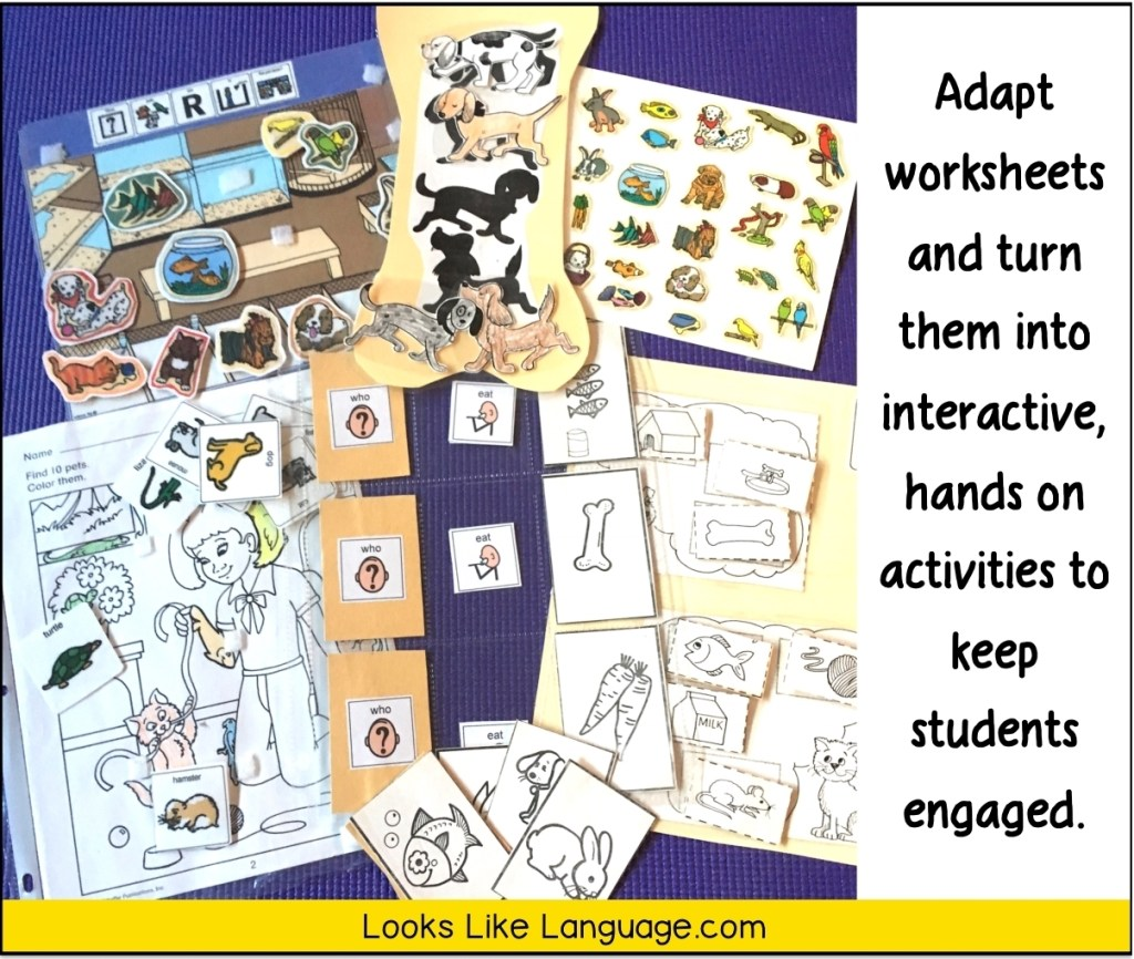 adapting worksheets for play