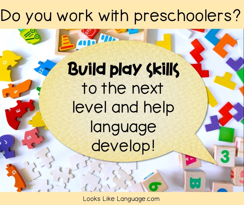 Do you work with preschoolers? Then Build pklay skills to the next level and help develop language skills.