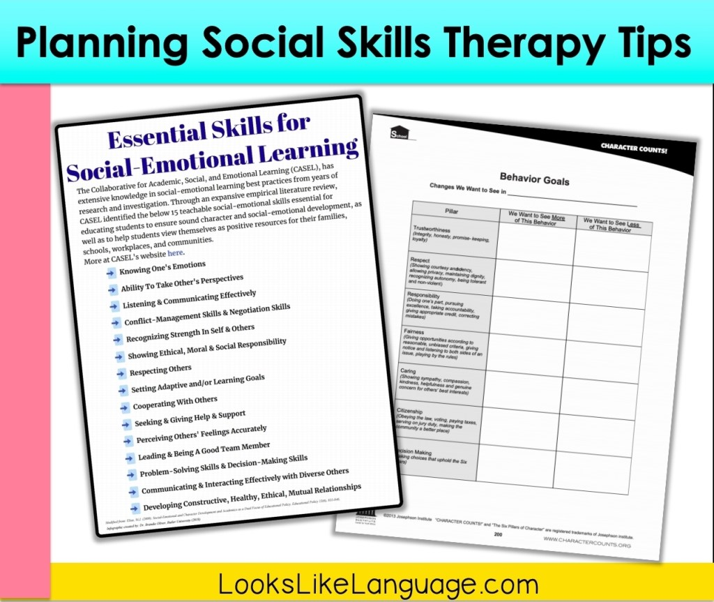 Free download vocabulary pages from Social-Emotional Learning websites