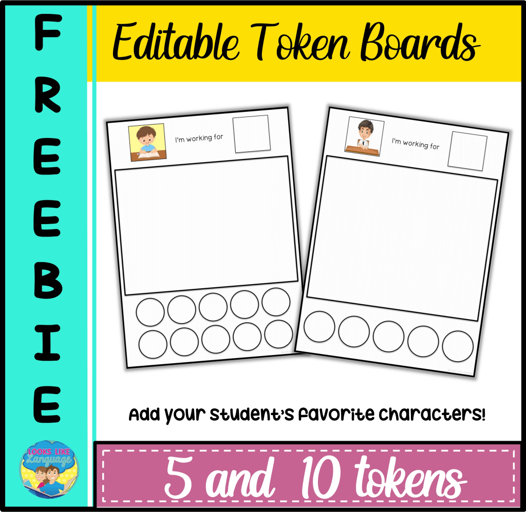 picture of the token board freebie