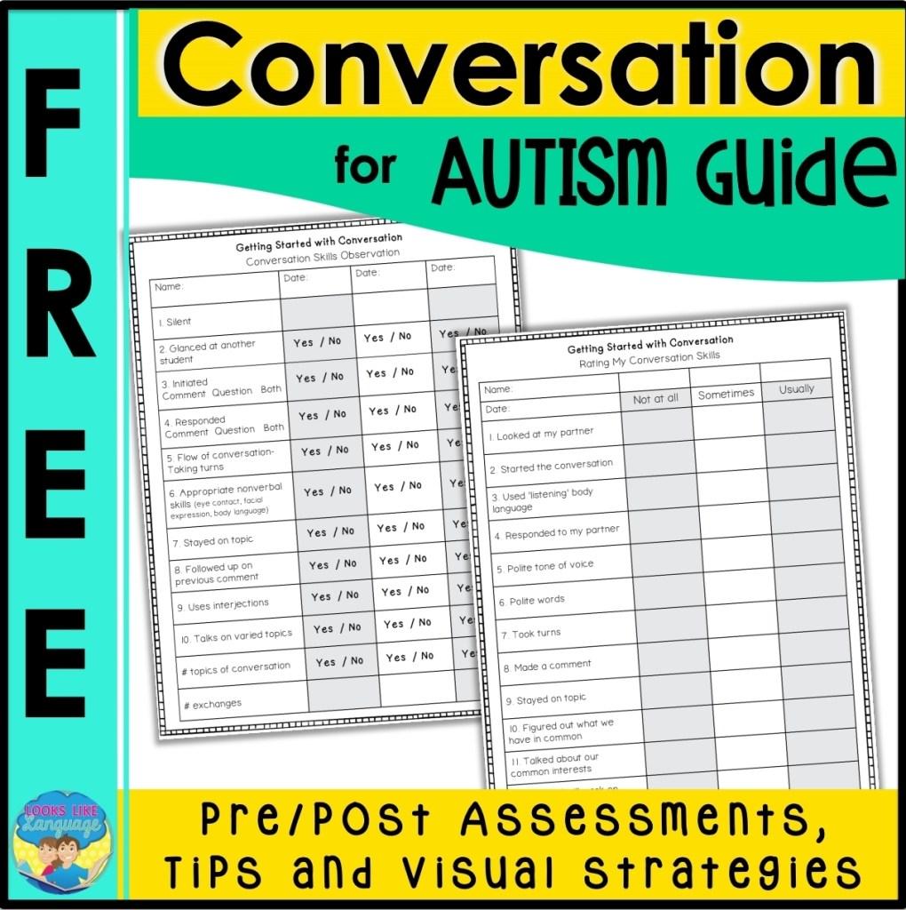 free conversation skills for autism rubrics