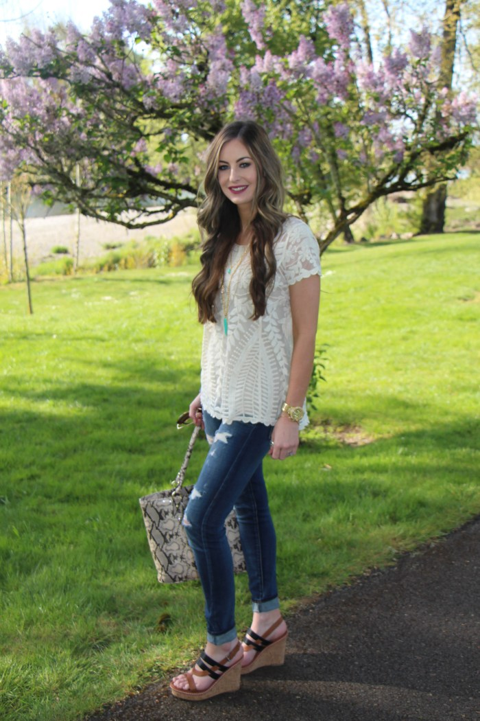 Beautiful spring lace top for the fashionable girls.