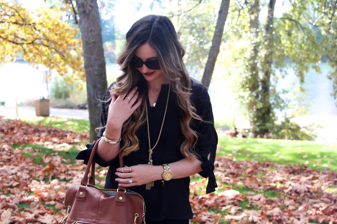 Chic Black and White Pants