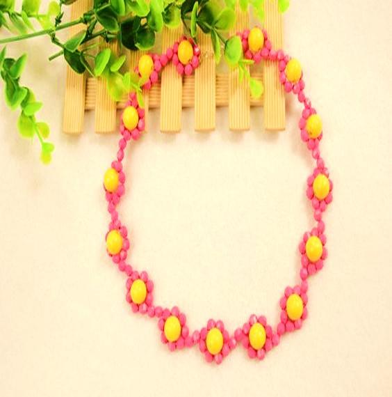 collar flores bisuteria paso a paso gratis diy