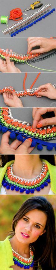 collar trensado cadena