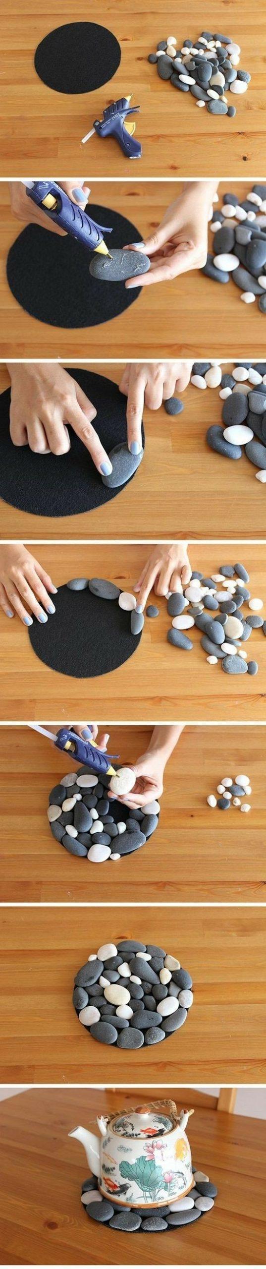 Alfombra piedras decoracion