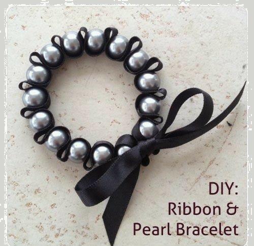 pulsera cinta ribbon bracelet diy tutorial paso a paso