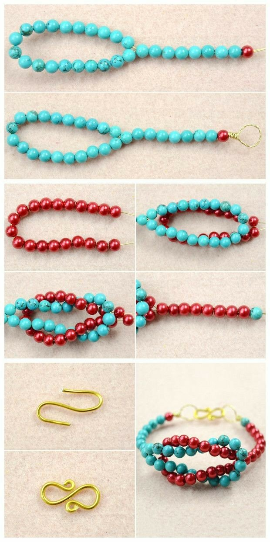 Bisuteria paso a paso tutorial pulsera jewelry DIY bracelet
