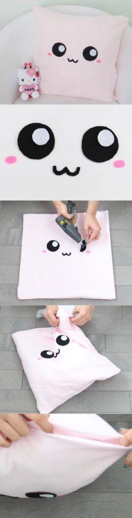 kawaii cojin rosado cushion pattern pillow pink