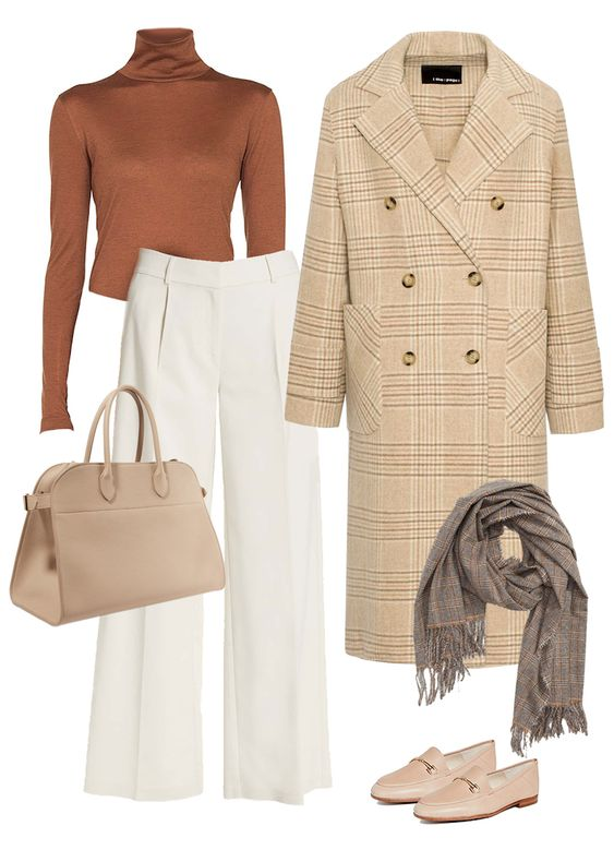 outfit chaqueta brown pants