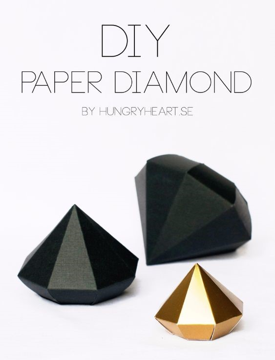 caja diamante manualidades paso a paso