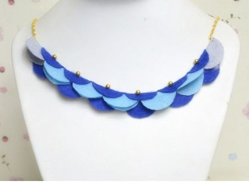collares fieltro necklaces felt bisuteria jewelry handmade diy