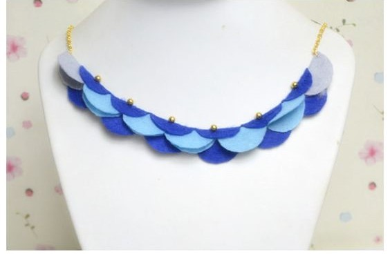 collares fieltro necklaces felt bisuteria jewelry handmade diy