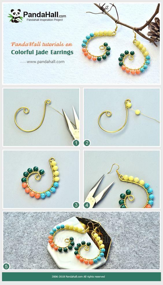 zarcillos aretes earrings bisuteria jewelry handmade diy wire