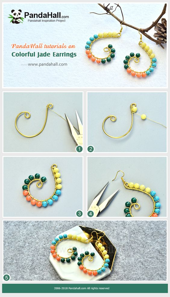 zarcillos aretes earrings bisuteria jewelry handmade diy wire