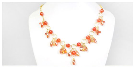 handmade collares beads necklace drops crystals DIY
