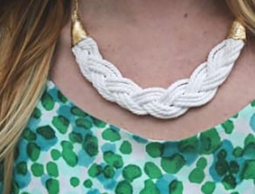 collares tejidos trenza bisuteria jewelry handmade