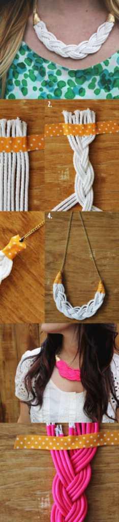collares tejidos estilo trenza jewelry necklaces handmade