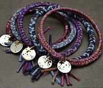 pulsera aro tejida jewelry bracelet DIY