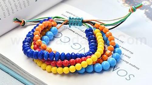 pulseras perlas colores nudo macrame bisuteria jewelry bracelets