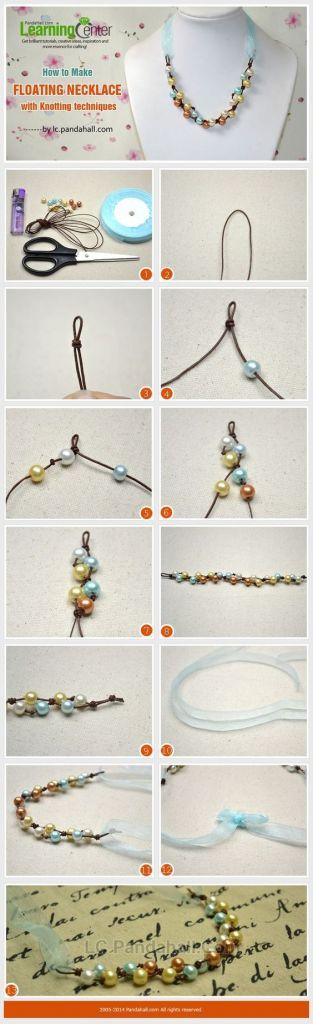 bisuteria collares perlas nudos cuero cintas necklaces jewelry pearls knots ribbons