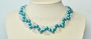 jewelry bisuteria collares perlas cristales azul blue necklaces beads crystals