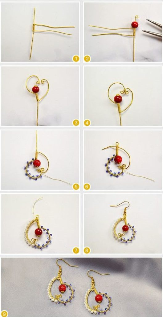 bisuteria diy como hacer how to make aretes zarcillos alambre earrings wire