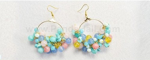zarcillos aretes beads como hacer tutorial bisuteria jewelry how to make como hacer
