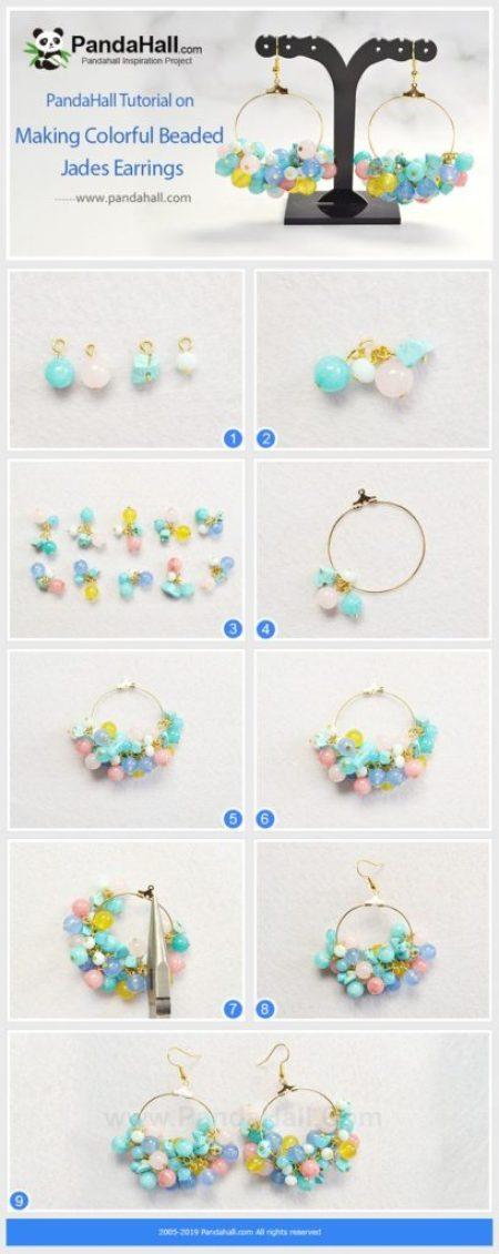 handmade jewelry zarcillos aretes beads como hacer tutorial bisuteria