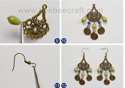 aretes zarcillos bohemio boho jewelry handmade bisuteria earrings how to make como hacer paso a paso