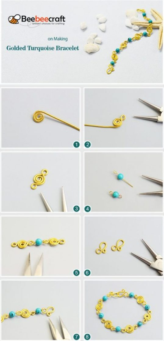 pulseras bracelets como hacer tutoriales tutorials how to make alambre wire