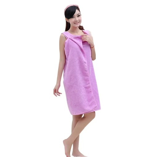 Women Microfiber Bath Towel Plain Design Lookta Home View All Bath
