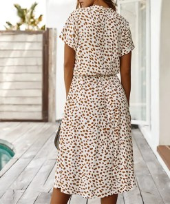 Bohemian Leopard Print Women Casual Dress Women's Fashion View All Women's Clothing Dresses