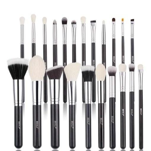 Black Makeup Professional Natural Goat Hair Brushes Set Makeup Lookta Beauty View All