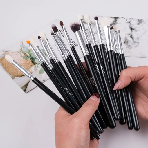 Black 15 Or 18 Pieces Makeup Natural Goat Pony Hair Brushes Makeup Lookta Beauty View All