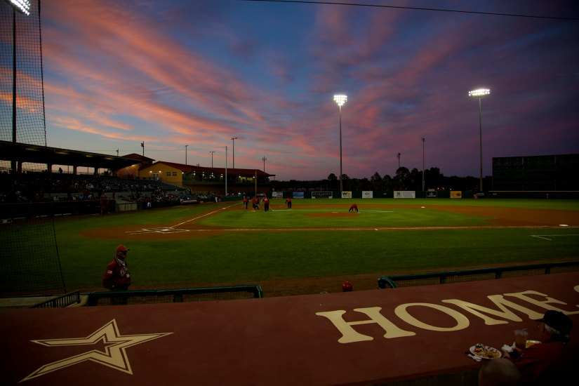 Sunset over Osceola County Stadium, Kissimmee