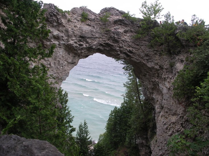 Here on the Mackinac Island in Michigan you can rent a bike and travel around the island.
