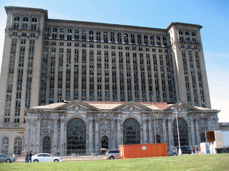 This is one of the most famous rail depots in Detroit, Michigan.