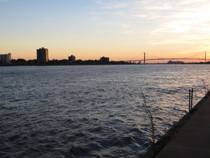 This is the perfect place in Detroit this weekend to visit in the evening and watch the sun go down.