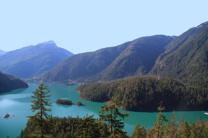 Diablo Lake can be found near the North Cascades National park and is known to be one of the greatest places for hikers and adventure seekers in Washington State.