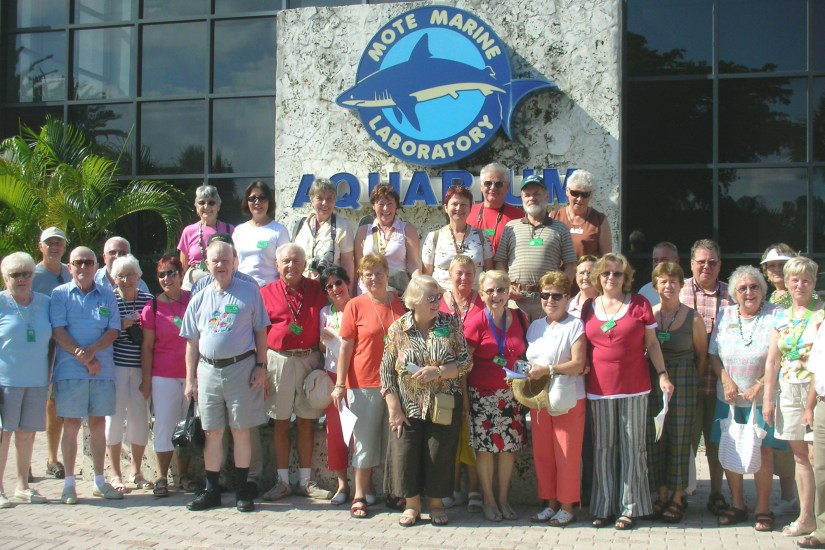 The Mote Marine Laboratory and Aquarium is located on Ken Thompson Parkway in Sarasota.