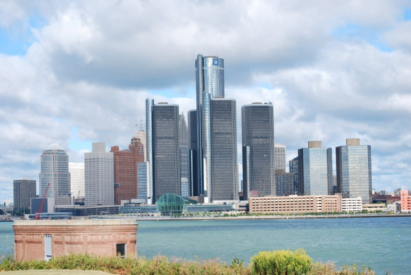 The Renaissance Centre is one of the most famous tourist spots in Detroit this weekend.