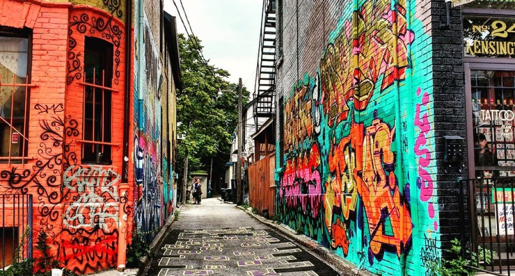 This lane in Toronto is the artists' hub