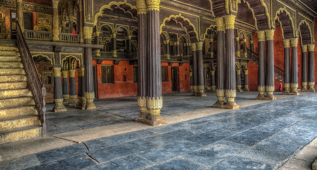 Tipu Sultan's Summer Palace in Bangalore, India.