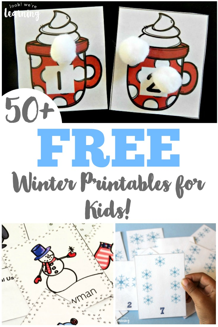 Over 50 Free Winter Printables For Kids  Look! We're