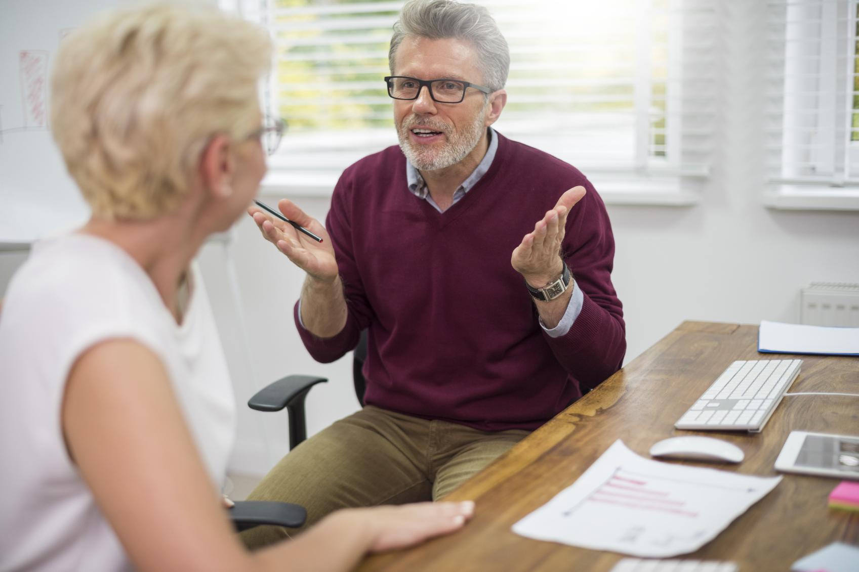 Argument-middle aged couple