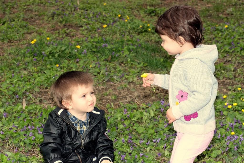 toddler giving
