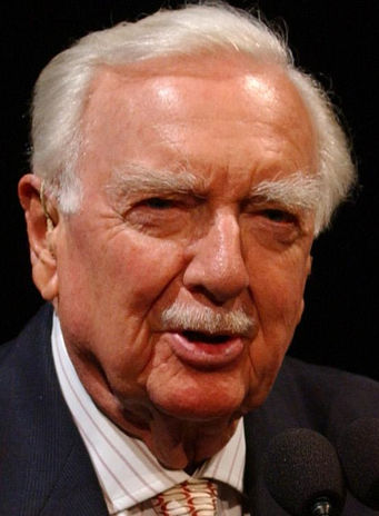 Walter Cronkite portrait by By NASA-Bill Ingalls [Public domain]