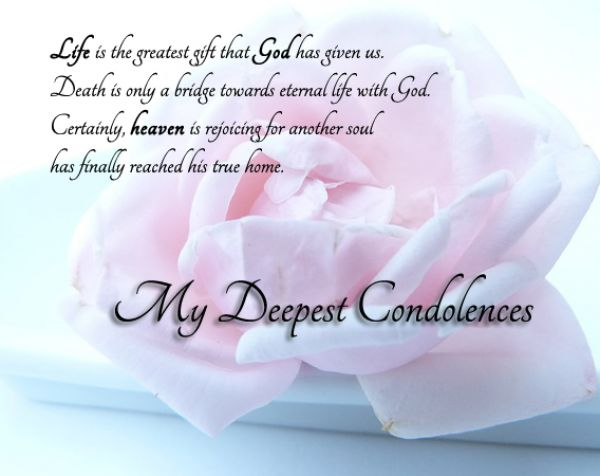 And Sympathy Your Deepest Our And Condolences Family You