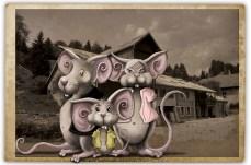 FROMAGERIE LE MARTEL : Illustration sourissette